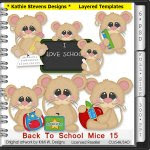Back To School Mice Layered Templates - CU