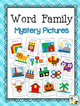 Word Family Mystery Picture Activities
