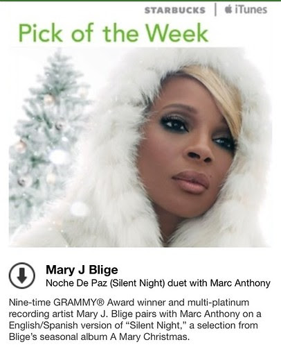 Starbucks iTunes Pick of the Week - Mary J Blige duet with Marc Anthony - Noche De Paz (Silent Night)