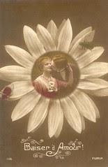 cpa amour fleur