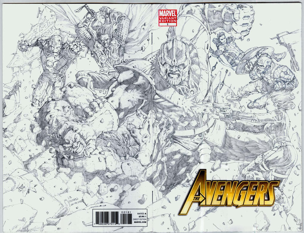 Avengers vs Thanos sketch covers by werder on DeviantArt