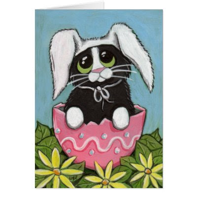 Easter Kitty - Cute Easter Greeting Card