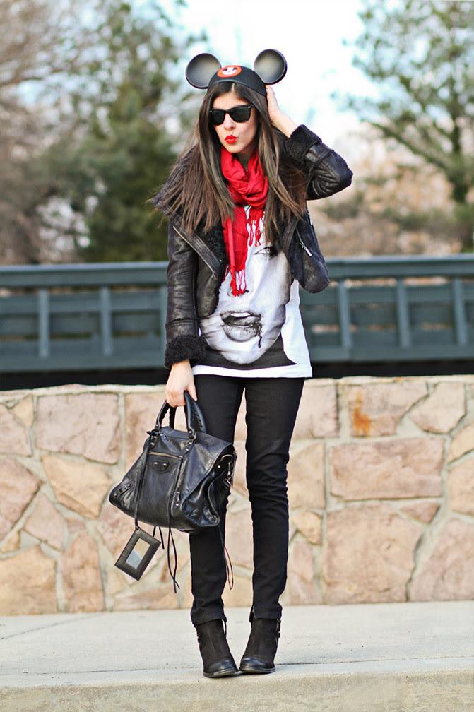Balenciaga Arena Classic City, Angelina Jolie, Topshop, Skinny Jeans, Fashion outfit
