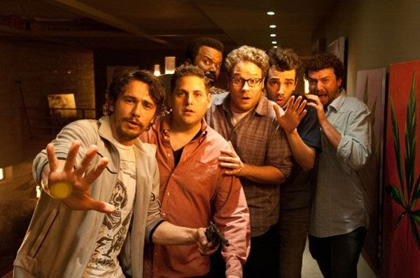 James Franco, Jonah Hill, Seth Rogen, Craig Robinson, Jay Baruchel and Danny McBride confront the Apocalypse in THIS IS THE END.