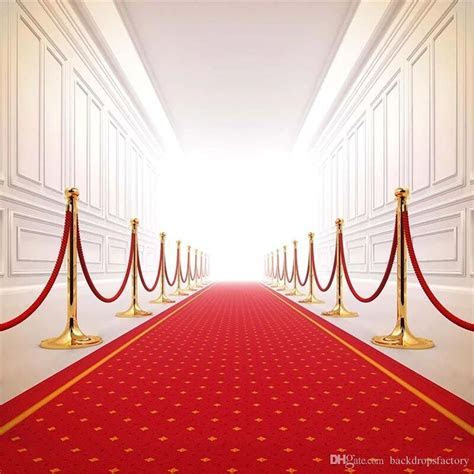 2019 Red Carpet Wedding Backdrop Photography Bright Front