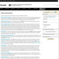 Online Name Word Generators Pearltrees