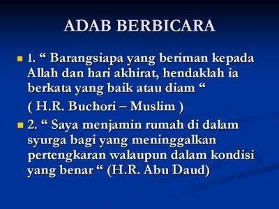 adab berbicara mendengar  berdebat  islam