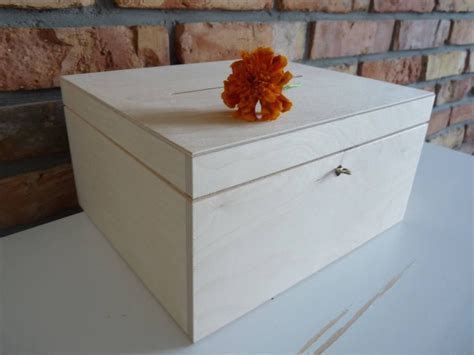 Wedding Wooden Card box with Slot   Wood Wedding Card Box