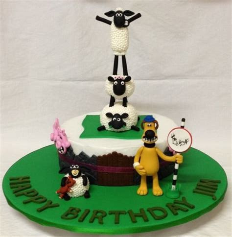 It's Shaun the Sheep  cake topper   cake by Jade
