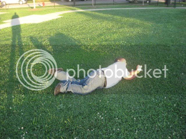 Josh rolling down hill
