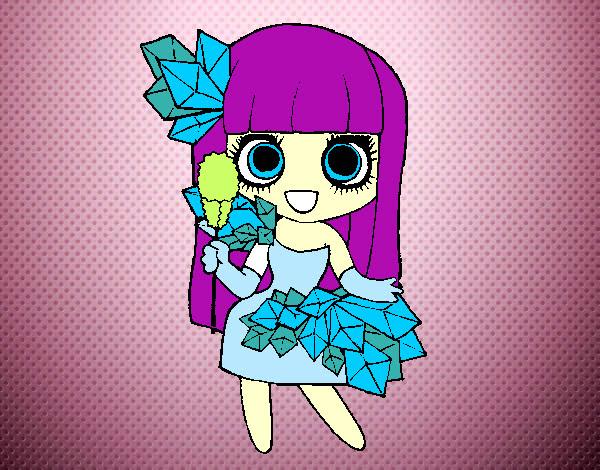 Dibujo De Chica Con Diamantes Bonitos Pintado Por Yezus En Dibujos