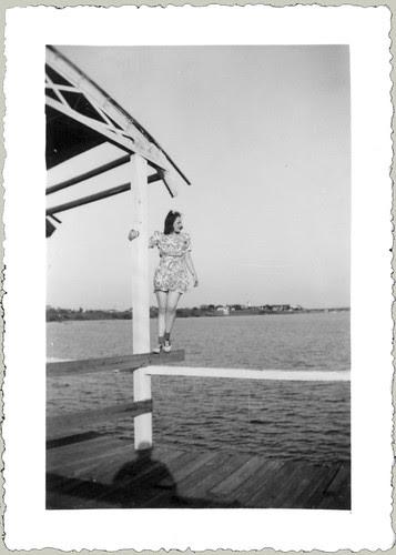 Glenna on a rail