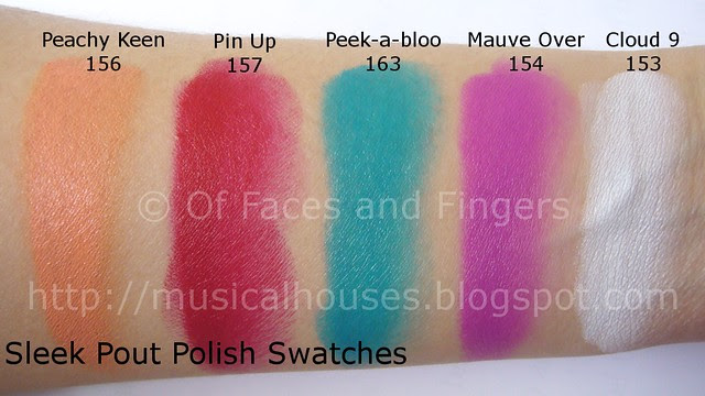 Sleek Pout Polish Swatches