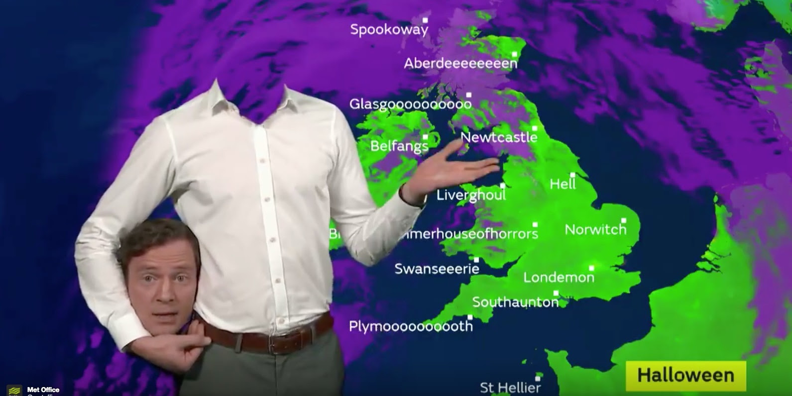 Weather Presenter 'Without Head' Causes Panic During Live Broadcast (Photo+Video)