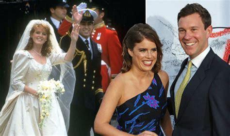 Princess Eugenie wedding compared to Sarah Ferguson and
