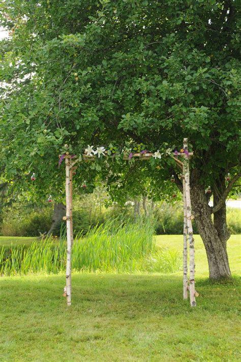 DIY birch wedding arch   Arbor   Pinterest   Arches