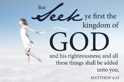 Seek Ye First The Kingdom Of God Lyrics Bible Verse