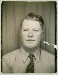 Photobooth man with tie