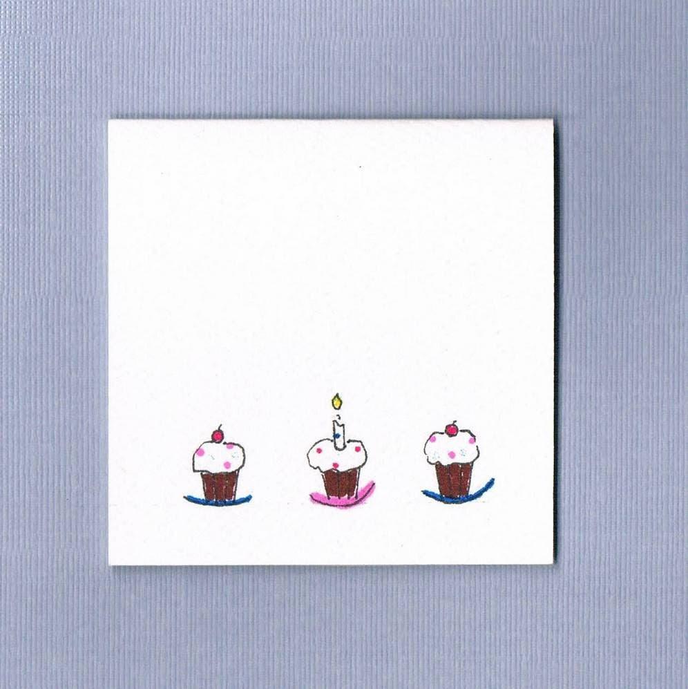 handmade mini birthday cards / set of 8