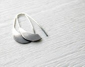 Ombre Industrial Silver Earrings  - handmade sterling silver organic look hoop earrings, black and white - alibli