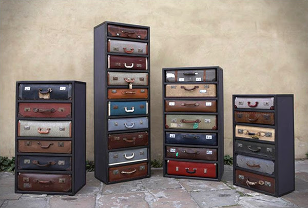 Cool Way to Recycle Old Suitcases