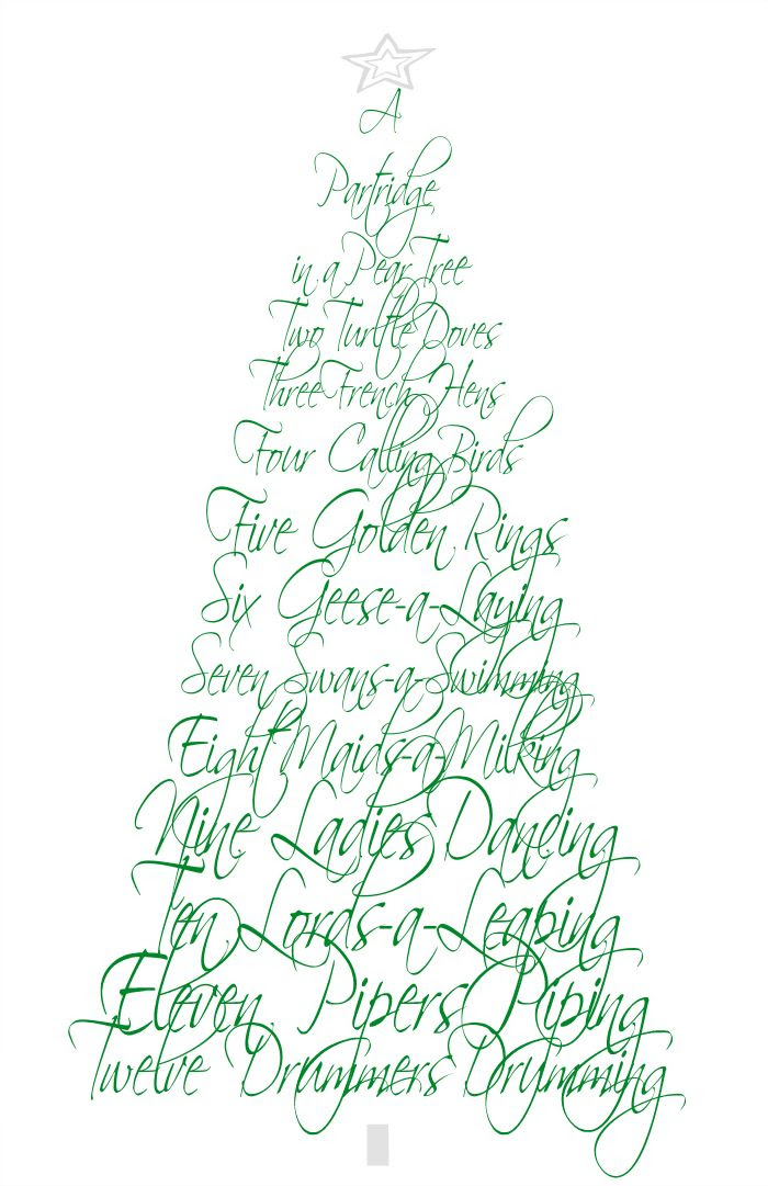 12 Days of Christmas fresh FREE PRINTABLE