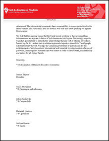 Canadian Students letter to Harper (ctd)