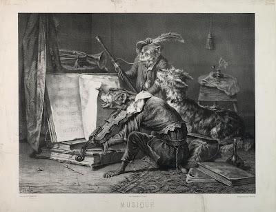 Louis Eugène Pirodon 'Musique' - after Emmanuel Notterman