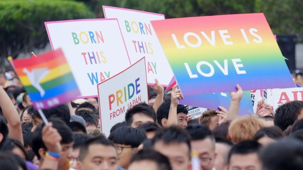 Image result for taiwan same sex marriage demonstrate