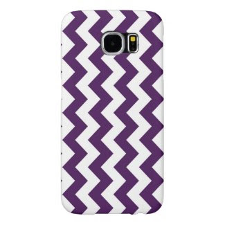 Purple and White Zigzag Samsung Galaxy S6 Cases