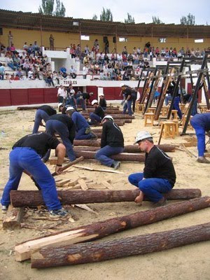 EXHIBICIÓN  DE ENTIBADORES  DEL  CAUDAL EN  ANDORRA  (TERUEL)  MAYO 2005