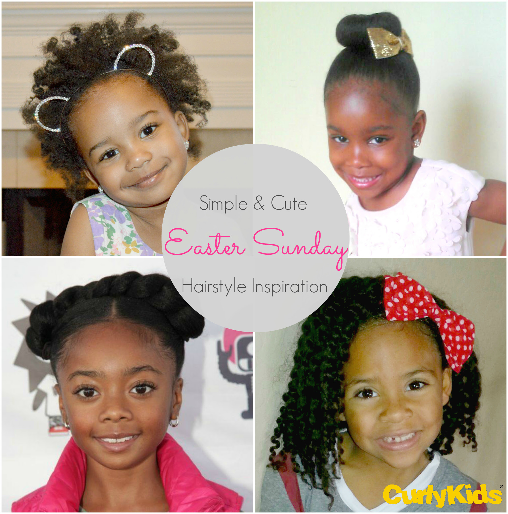 Simple and Cute Easter Sunday Hairstyle Inspiration   CurlyKids Hair Care