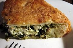 greens and herbs savory pie