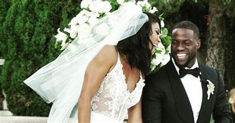 Eniko Parrish Marries Kevin Hart in Two Different Sheer