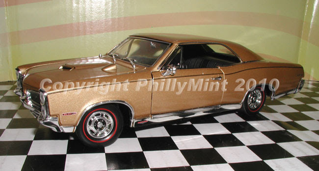 Phillymint Unique 1967 Pontiac Gto Hardtop Gold 124cast Model