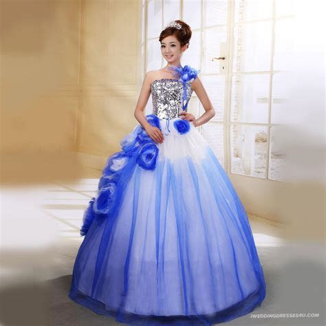 Wedding Dresses With Color In Them   Wedding and Bridal