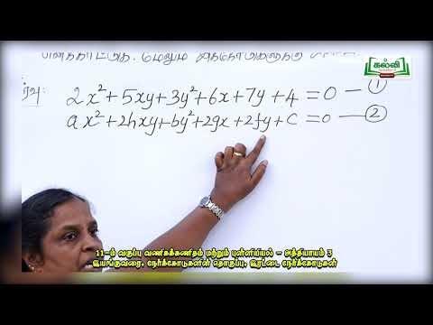 11th  Business Mathematics and Statistics பகுமுறை வடிவியல் அத்தியாயம் 3 பகுதி 1 Kalvi  TV
