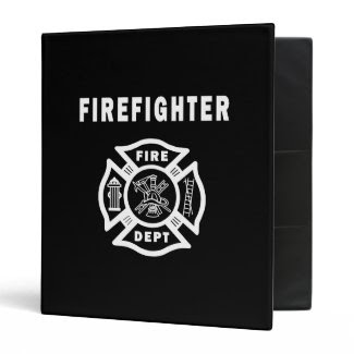 Firefighter Logo Vinyl Binder