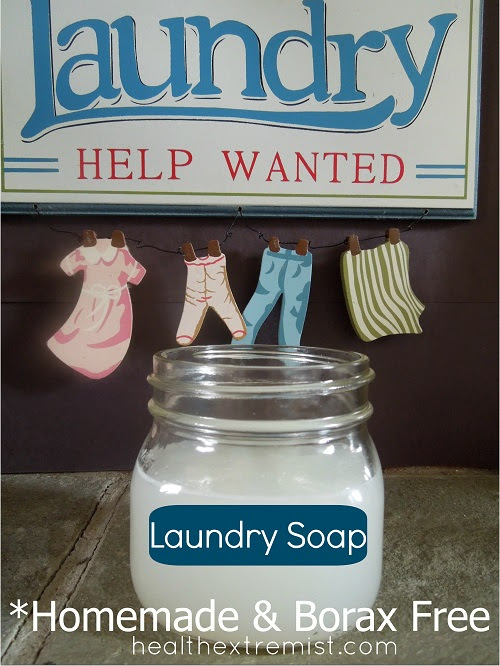 Homemade Laundry Soap Recipe (Borax Free Homemade Laundry ...