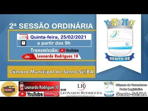 2ª SESSÃO ORDINÁRIA   1° PERÍODO LEGISLATIVO   ANO 2021 - CÂMARA DE VEREADORES