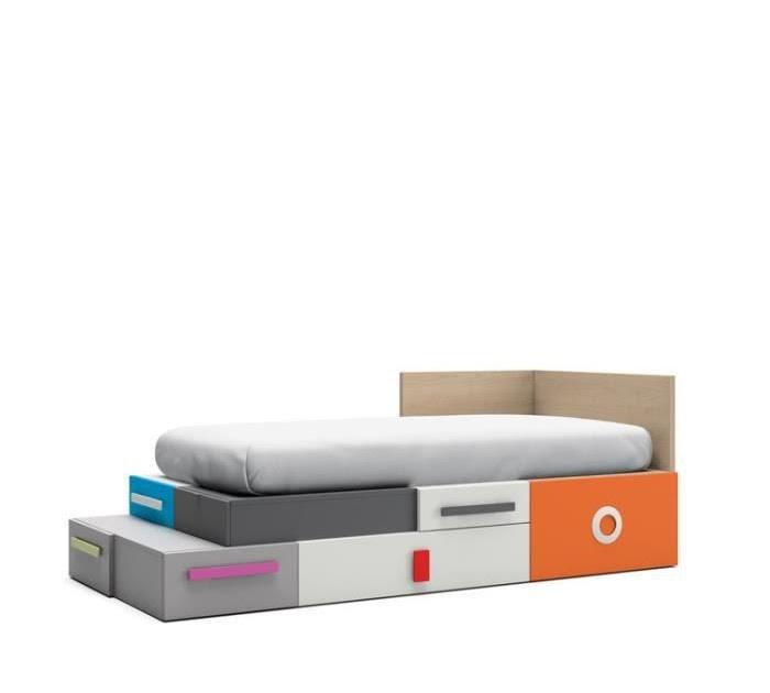 Mobilier table lit 90x190 avec rangement - Lit 90x190 avec rangement ...