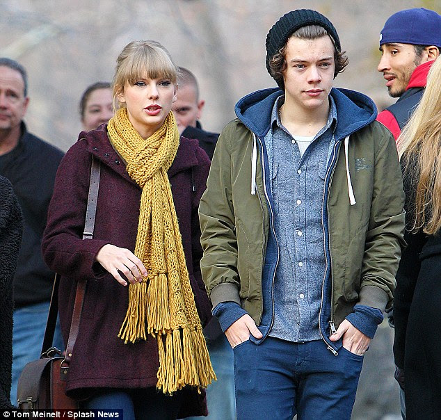 Fleeting: Taylor and Harry briefly dated from November 2012 until early January 2013
