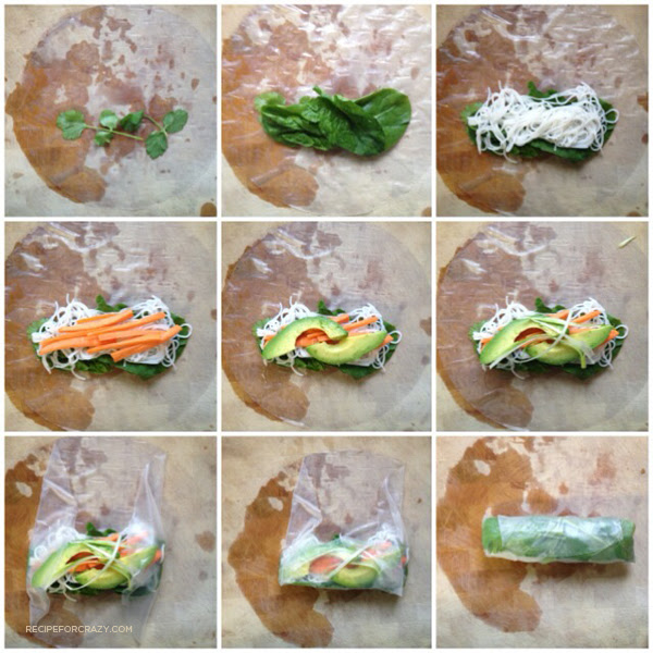spring roll step-by-step