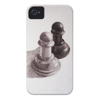 Pencil Drawn Pawns Chess Case-mate Iphone 4 Cases