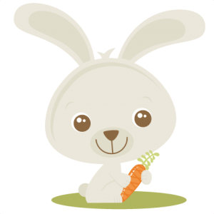 Easter Rabbit Holding Carrot SVG cutting file easter svg scrapbook title easter svg cut file