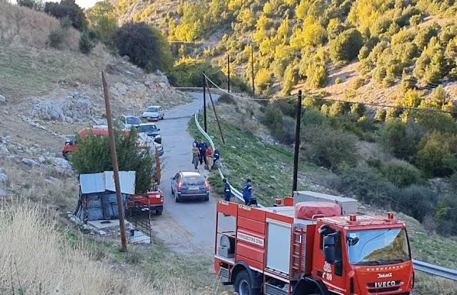 Κοζάνη: Σε εξέλιξη η πυρκαγιά στη Δημοτική Κοινότητα Ελλησπόντου