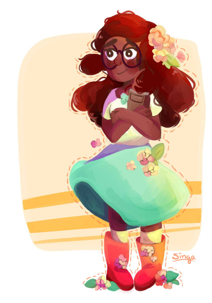 Coloured and painted an old sketch of Connie :3