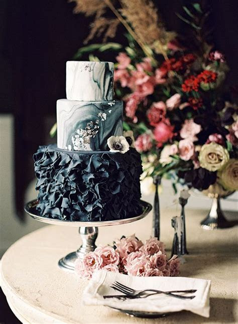 Picture Of moody black wedding cake