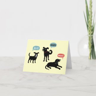Arf Bark Woof card