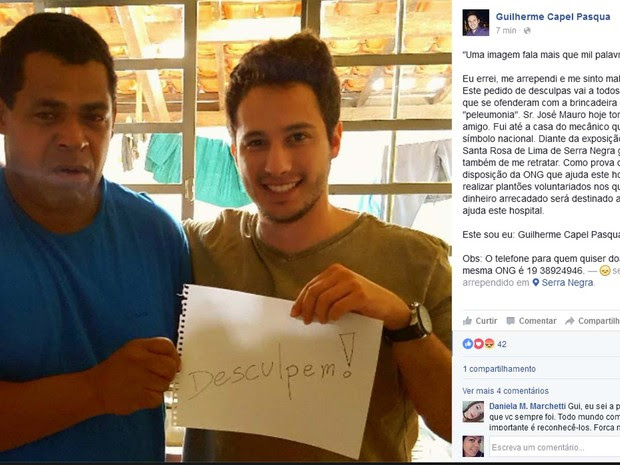 Guilherme e José Mauro se reencontram em Serra Negra  (Foto: Reprodução/internet)